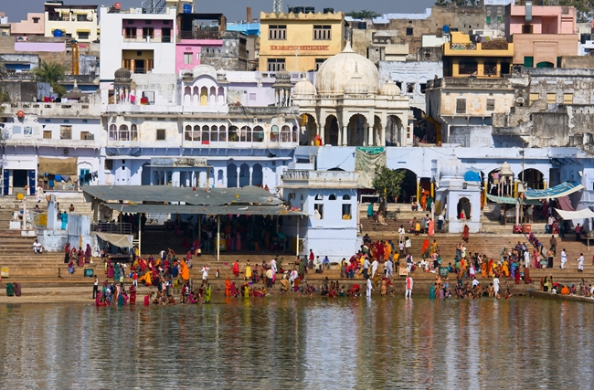 Holy Dip at Pushkar Lake
